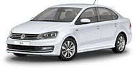 Volkswagen Polo with driver